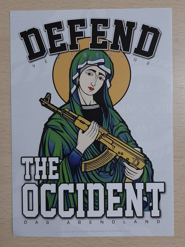 "Aufkleber ""DEFEND THE OCCIDENT"" Packung/50 Stück"
